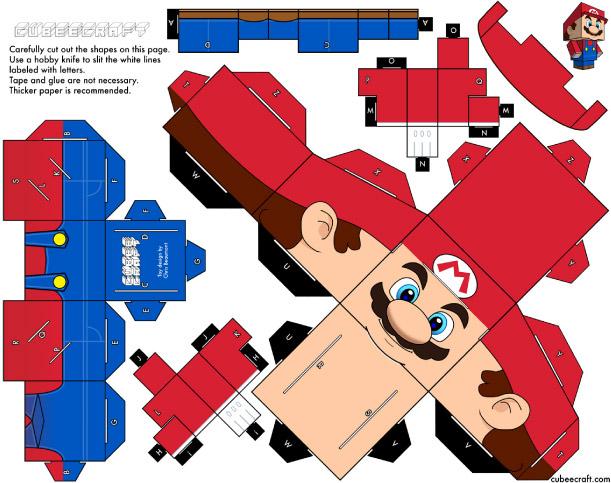 Mario paper box