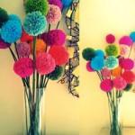 Pompons bouquet