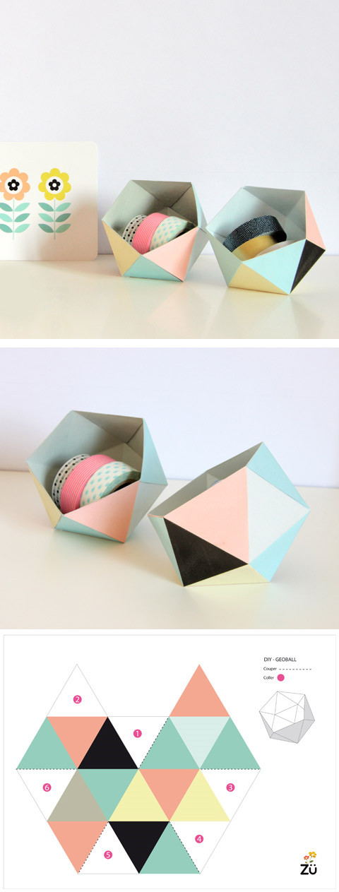 boite coloree diy
