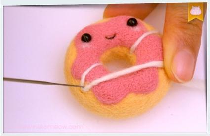 donuts laine feutrée