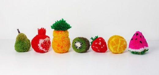 diy pompons fruits