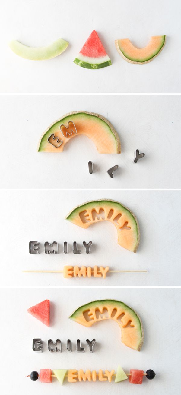 diy brochettes melon